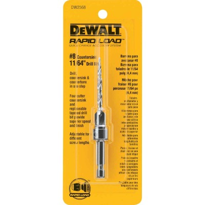 DeWalt #8 - 11/64 In. Fine Rapid Load Wood Countersink