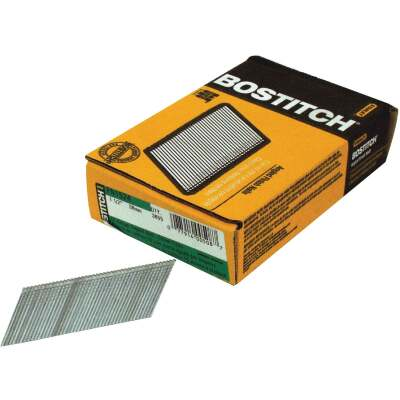 Bostitch 15-Gauge Coated 25 Degree FN-Style Angled Finish Nail, 1-3/4 In. (3655 Ct.)