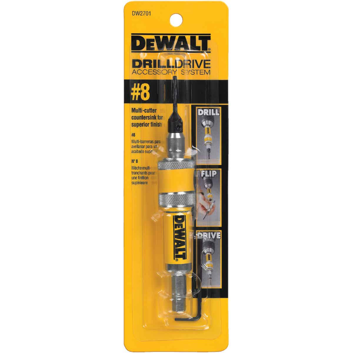 DeWalt #8 1/4 In. Black Oxide Drill & Drive Unit Image 1