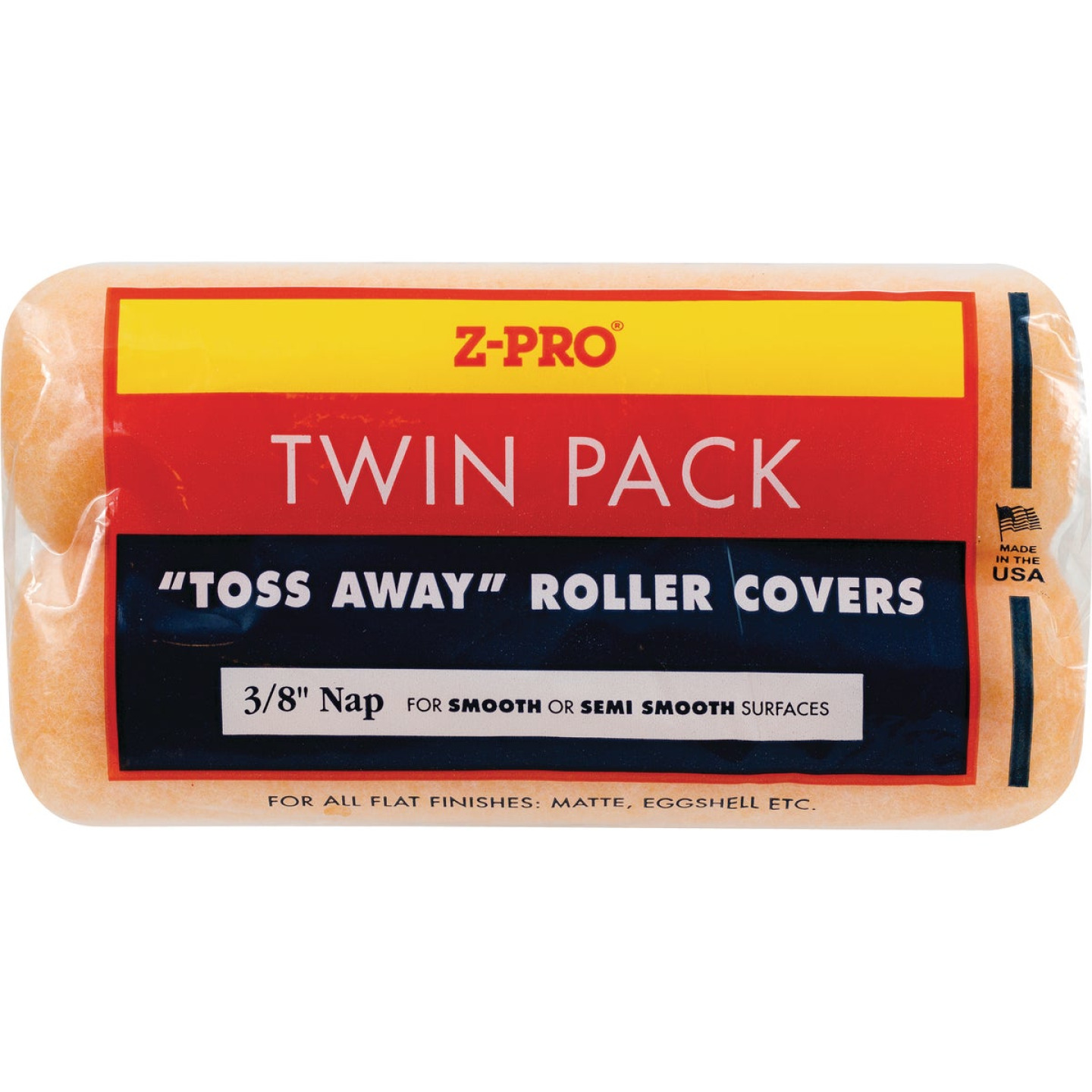 Premier Z-Pro 9 In. x 3/8 In. Toss Away Knit Fabric Roller Cover (2-Pack) Image 1